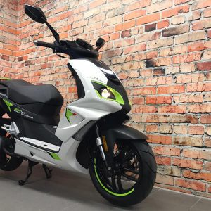 Peugeot Speedfight 4 icy white / fluo green